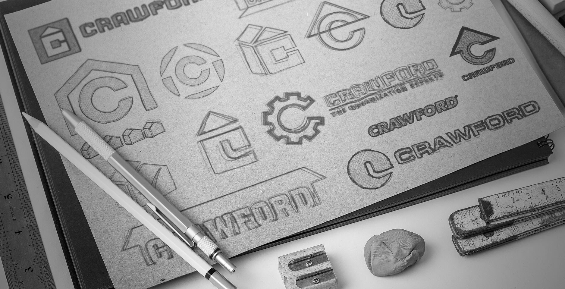 crawford-sketch-logo-design-concept-drawings-brand-identity-rebrand-mark-logotipo-graphic-design-home-garage-packaging-design-construction-industrial